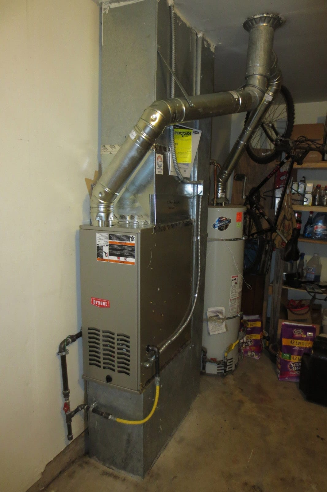 furnace installation after efficiency heating cooling